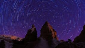 Cappadocia Star trails (Timelapse) stock footage