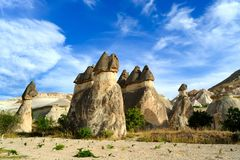 Cappadocia. Steinpfosten Stockfotografie