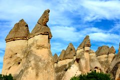 Cappadocia. Stone pillars Royalty Free Stock Photos
