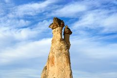 Cappadocia. Stone pillars Royalty Free Stock Photo