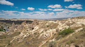 Cappadocia Timelapse Indyczy świt w dolinie miłość zbiory