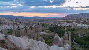 Cappadocia timelapse Indyczy świt w dolinie miłość zdjęcie wideo