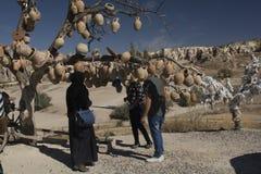 Cappadocia, Topf, Truthahn, Reise, Landschaft, Natur, Tourismus, Tal, lizenzfreie stockfotos
