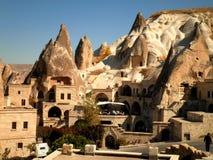 Cappadocia Town. A picturesque view over Goreme town in Cappadocia Stock Photo