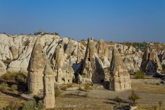 Cappadocia tuff formations landscape Royalty Free Stock Image