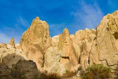 Cappadocia tuff rocks in autumn Stock Photography