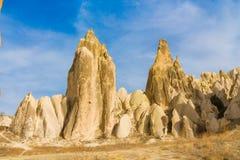 Cappadocia tuff towers in Goreme Royalty Free Stock Photo