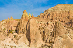 Cappadocia tuff towers in Goreme Stock Photography