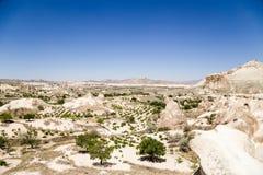 Cappadocia, Turchia Bello paesaggio della montagna nella valle dei monaci (valle Pashabag) Fotografie Stock Libere da Diritti