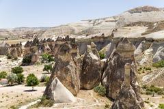 Cappadocia, Turchia Funghi di pietra nella valle dei monaci (valle Pashabag) Fotografia Stock Libera da Diritti