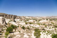 Cappadocia, Turchia Il paesaggio pittoresco della valle dei monaci (valle Pashabag) Fotografia Stock Libera da Diritti