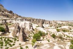 Cappadocia, Turchia Vista scenica della valle dei monaci (valle Pashabag) Fotografie Stock Libere da Diritti