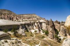 Cappadocia, Turchia Viste sceniche della valle dei monaci (Pashabag) Immagini Stock