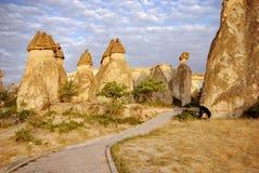 Cappadocia, Turkey. Amazing stone formations, Cappadocia, Turkey royalty free stock image