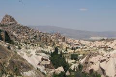 Cappadocia, Turkey. Amazing Uchisar castle, in Cappadocia, Turkey Royalty Free Stock Photos