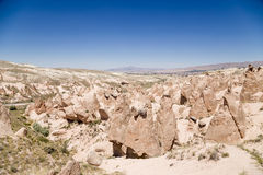 Cappadocia, Turkey. Beautiful view of a mountain Devrent Valley with figures of weathering Stock Photography