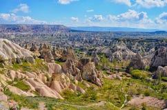 CAPPADOCIA TURKEY. Beautiful view on the rocks in Cappadocia, Turkey. Spring Royalty Free Stock Photos