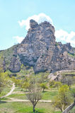 CAPPADOCIA TURKEY. Beautuful view on the rocks and old town in Cappadocia, Turkey. Spring Royalty Free Stock Photo