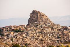 Cappadocia, Turkey. Central Turkey, people dug homes into the rock to hide from their persecutors royalty free stock photography