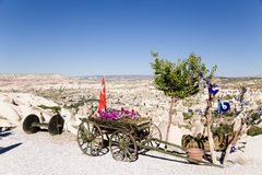 Cappadocia, Turkey. Entourage roadside cafe Stock Photo
