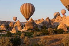 Cappadocia, Turkey.  the flight with the balloon at sunris Stock Photography