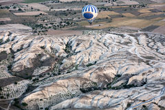 Cappadocia, Turkey.  the flight with the balloon at sunris Royalty Free Stock Photo