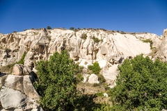 Cappadocia, Turkey. Goreme National Park: the canyon walls with artificial caves Royalty Free Stock Images