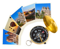 Cappadocia Turkey images and compass Royalty Free Stock Image