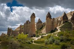 Cappadocia,Turkey. Love valley in Goreme national park stock images