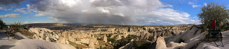 Cappadocia. Turkey. Panoramic photo Royalty Free Stock Image