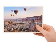 Cappadocia Turkey photography in hand Royalty Free Stock Image
