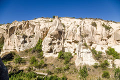 Cappadocia, Turkey. The picturesque canyon walls with artificial caves in the National Park of Goreme Stock Image
