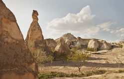 Cappadocia, Turkey. Rock formations in Cappadocia region. Turkey Royalty Free Stock Photography