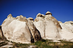 Cappadocia, Turkey. Rock formations in Cappadocia region. Turkey Royalty Free Stock Photos