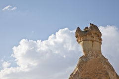 Cappadocia, Turkey. Rock formations in Cappadocia region. Turkey Royalty Free Stock Photo