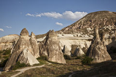 Cappadocia, Turkey. Rock formations in Cappadocia region. Turkey Royalty Free Stock Image