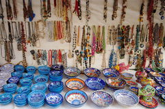 Ceramic and jewelry. Cappadocia - landmark attraction in Turkey royalty free stock image