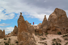 Cappadocia. Turkey. Stone columns Red Valley. Stock Images