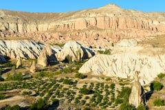 Cappadocia in Turkey. Stone formations of cappadocia, nature wonder Royalty Free Stock Photo