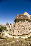 Cappadocia, Turkey. Stone mushrooms (pillars of weathering) in the Valley Pashabag (Monks Valley) Royalty Free Stock Images