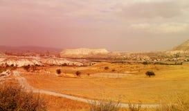 Cappadocia in Turkey to Goreme Royalty Free Stock Photo
