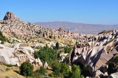Cappadocia, Turkey. Uchisar cave city in Cappadocia, Turkey Stock Photography