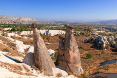 Cappadocia, Turkey. Urgup Fairy Chimneys Royalty Free Stock Photography