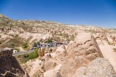 Cappadocia Turkiet Det pittoreska landskapet av den Devrent dalen Arkivbilder