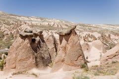 Cappadocia Turkiet Diagram av att rida ut i den Devrent dalen Royaltyfria Foton