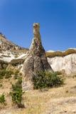 Cappadocia Turkiet Härlig stolpe som rider ut den Pashabag dalen (dalen av munkarna) Royaltyfri Fotografi
