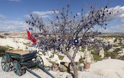Cappadocia, Turkije Duifvallei met pijlers van verwering Stock Afbeelding