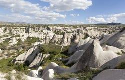 Cappadocia, Turkije Duifvallei met pijlers van verwering Royalty-vrije Stock Foto