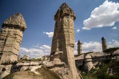 Cappadocia, Turquía Una vista del valle del amor Formaciones de la piedra arenisca en Cappadocia, Turquía fotos de archivo