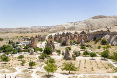 Cappadocia, Turquía Vista superior de las rocas en el valle Pashabag (valle de los monjes) Foto de archivo